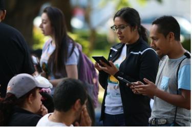 Undergraduate Students Conducting Field Surveys
