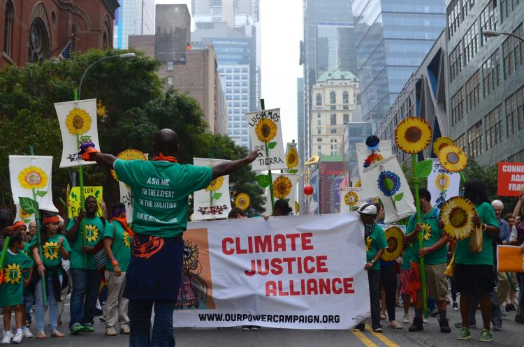 Climate justice in Peoples Climate March, NYC