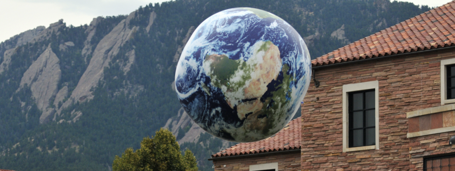 Ball of earth in the air