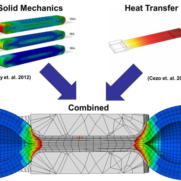 Finite element modeling of tissue fusion - combining solid mechanics and heat transfer