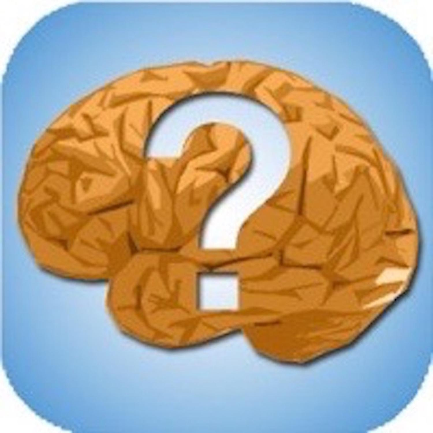 Brain with a question mark