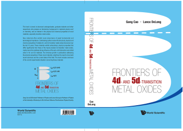 Book cover for Frontiers of 4d and 4d transition metal oxides