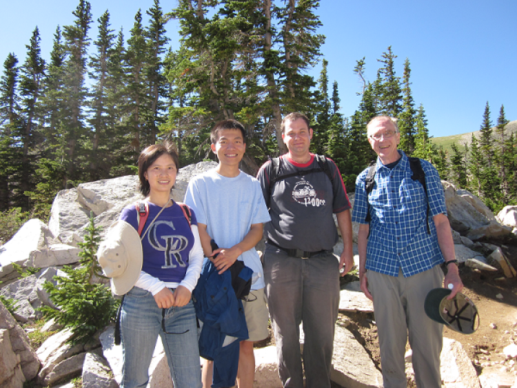 Lab members in front of Brainard lake