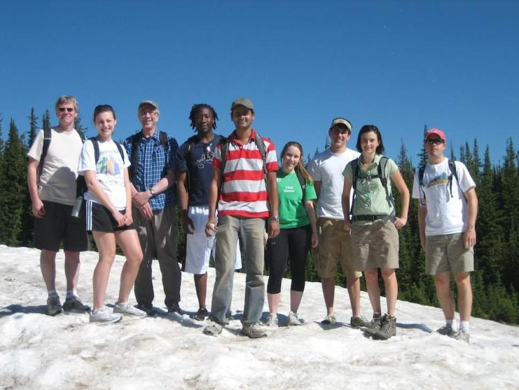 Lab Group on slope