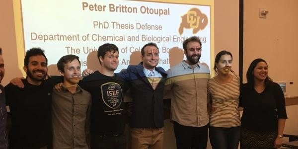 Team posing at Peter Otoupal's thesis defense