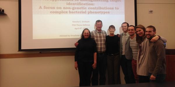 Keesha and team at her thesis defense