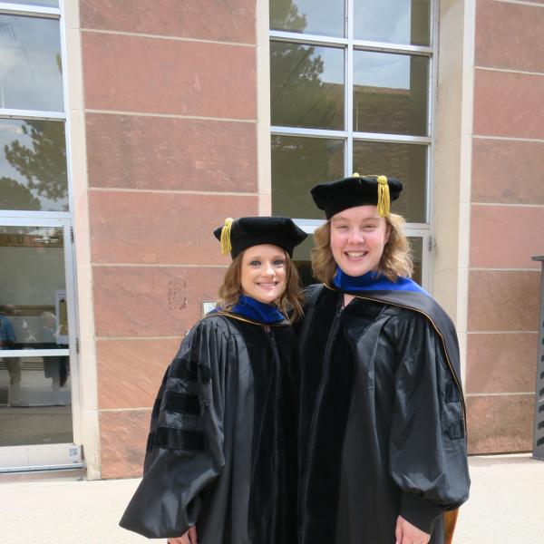Marta and Leah at graduation 2019
