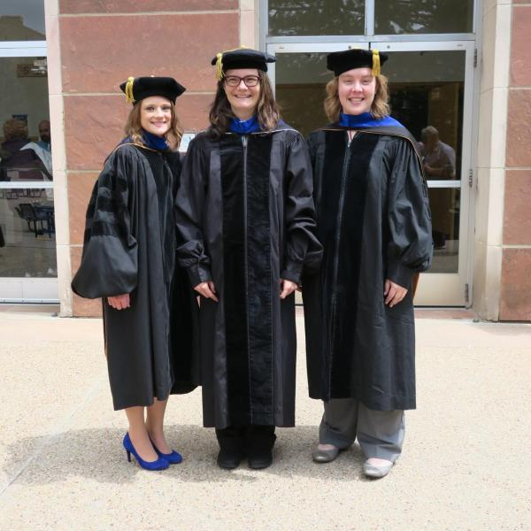 Marta, Gordana and Leah at graduation 2019