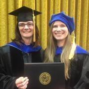 Amanda and Gordana after graduation (May, 2017)