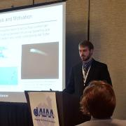 Ethan Culler presenting at the 2016 AIAA SciTech Conference