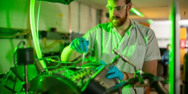 Brian Welch in the Laboratory with Roll-to-Roll ALD, MLD Reactor; University of Colorado at Boulder, Steven M. George Research Group