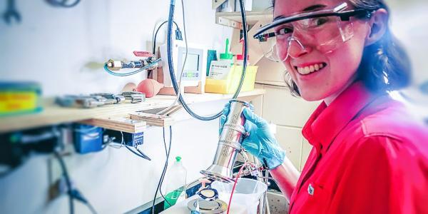 Olivia McIntee at Membrane Gas-Permeation & Desalination Test