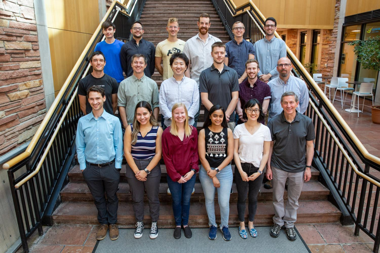 Photo of the S.M. George Research Group at CU Boulder Colorado