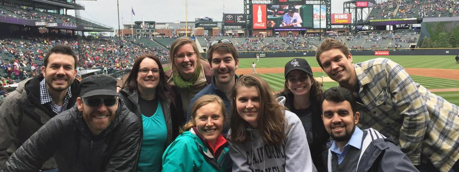Global Projects and Organizations group at Rockies baseball game