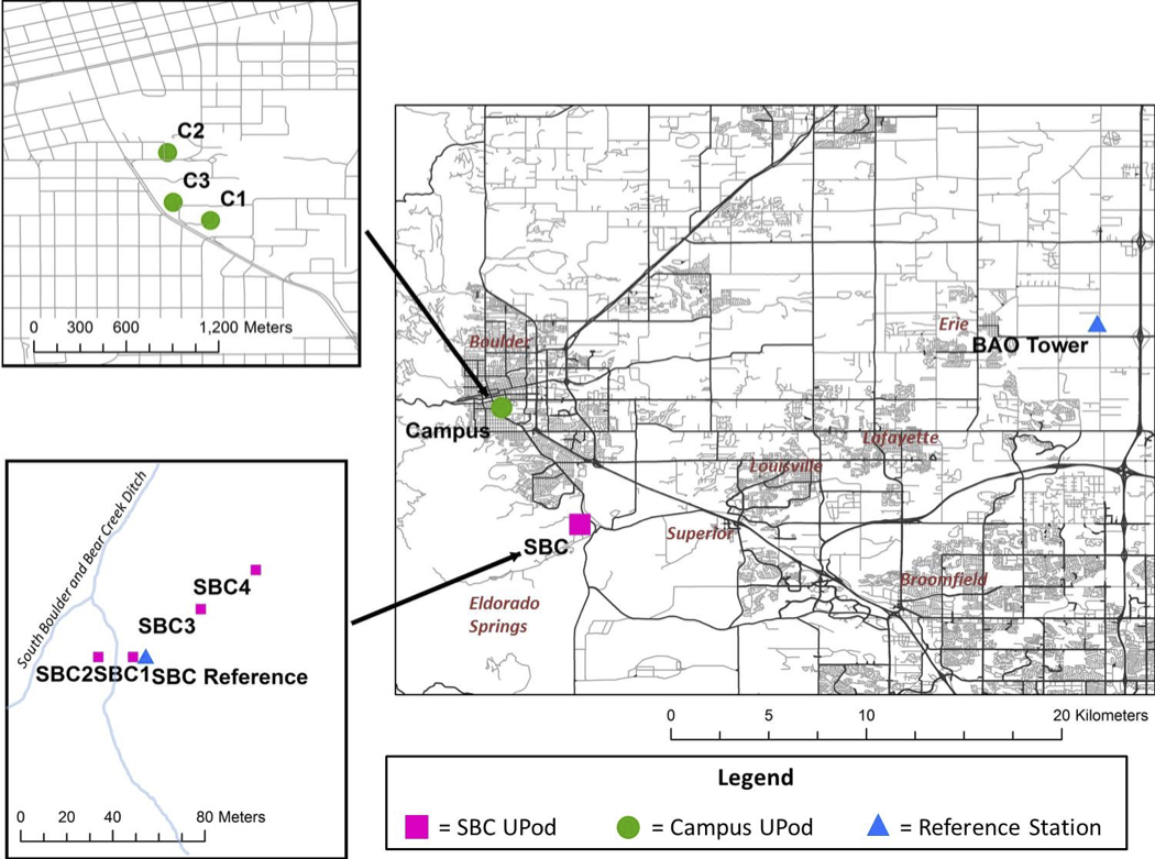 Figure shows Pods were distributed all over Boulder for this project