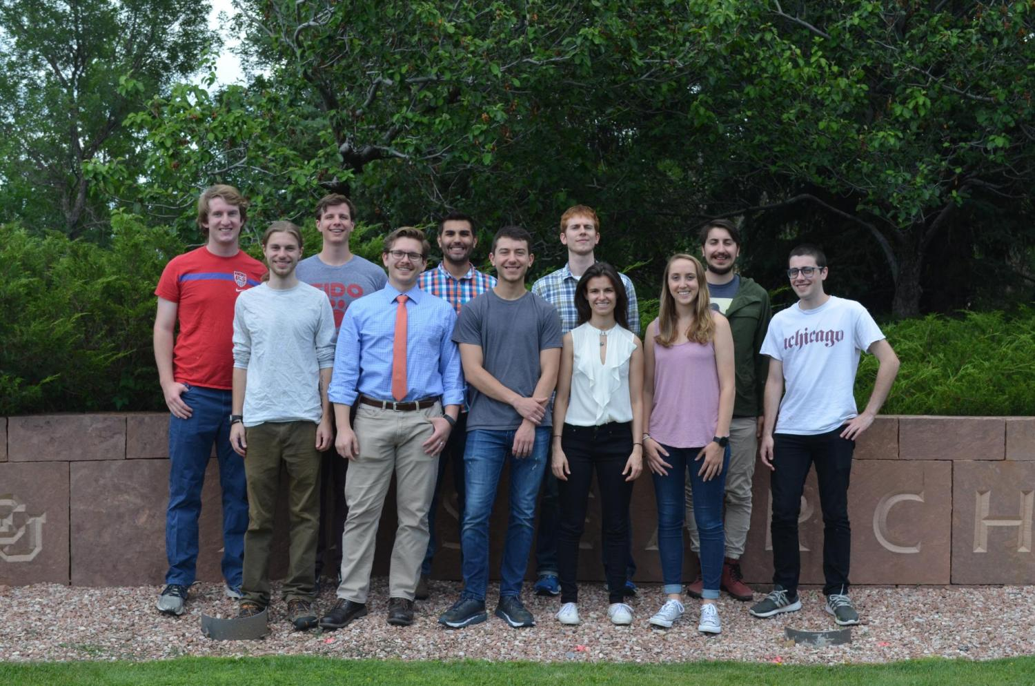 Picture of Holewinski lab, summer 2018