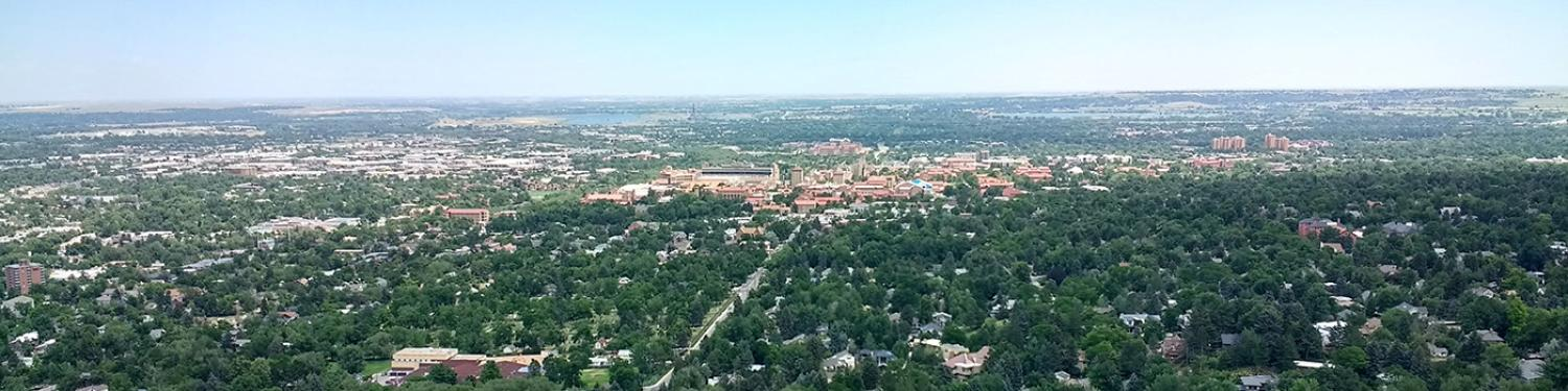 Aerial view of Boulder