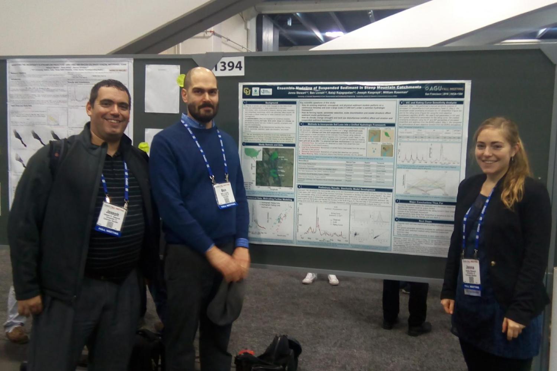 Prof. Ben Livneh, Prof. Joe Kasprzyk and Jenna Stewart
