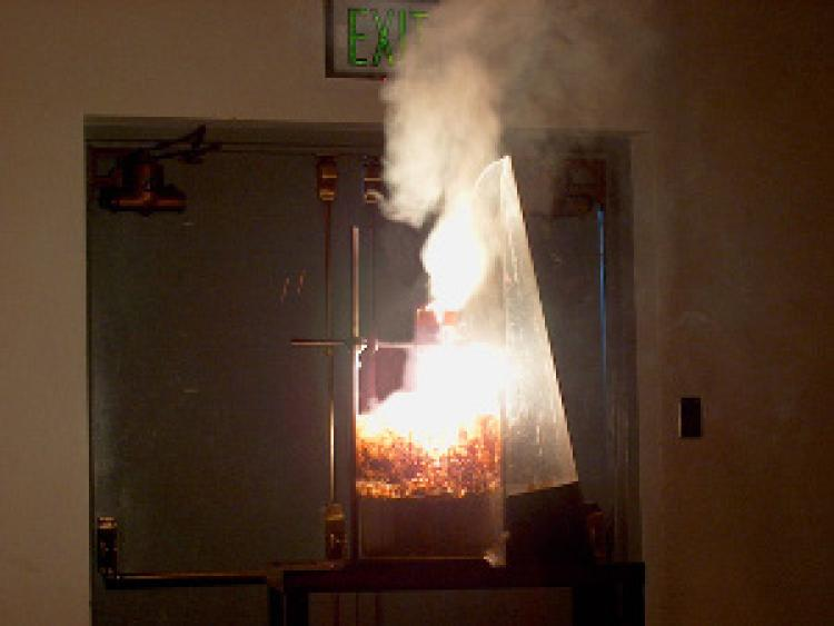 Thermite reaction in lab