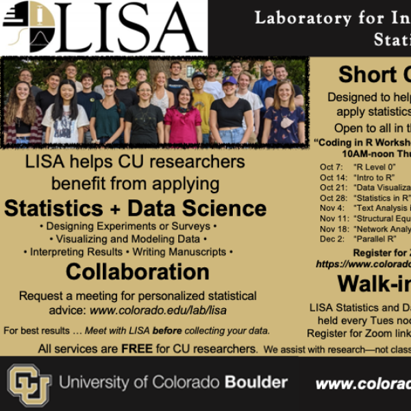 LISA helps CU researchers benefit from applying Statistics and Data Science