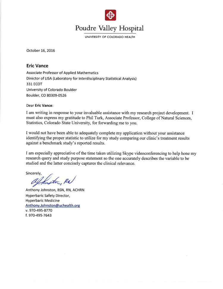 Letter Of Support For LISA From Anthony Johnston