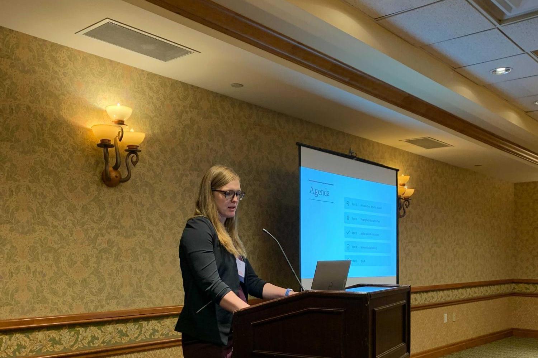 Caitlin Cloud presenting at CSHA