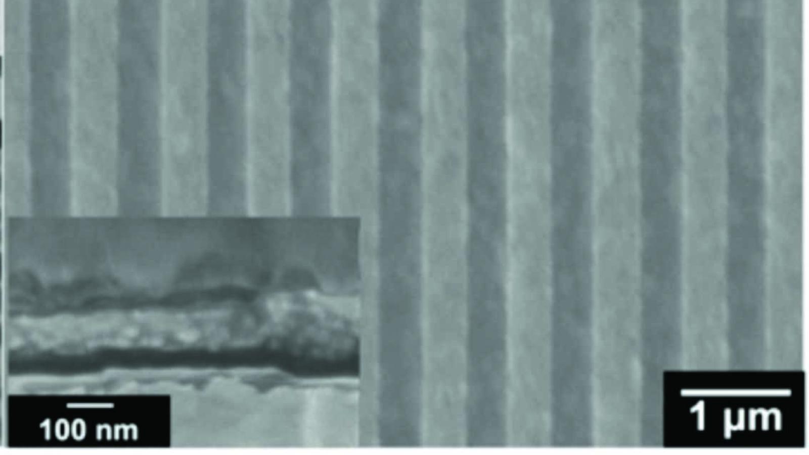 Silver nanograting