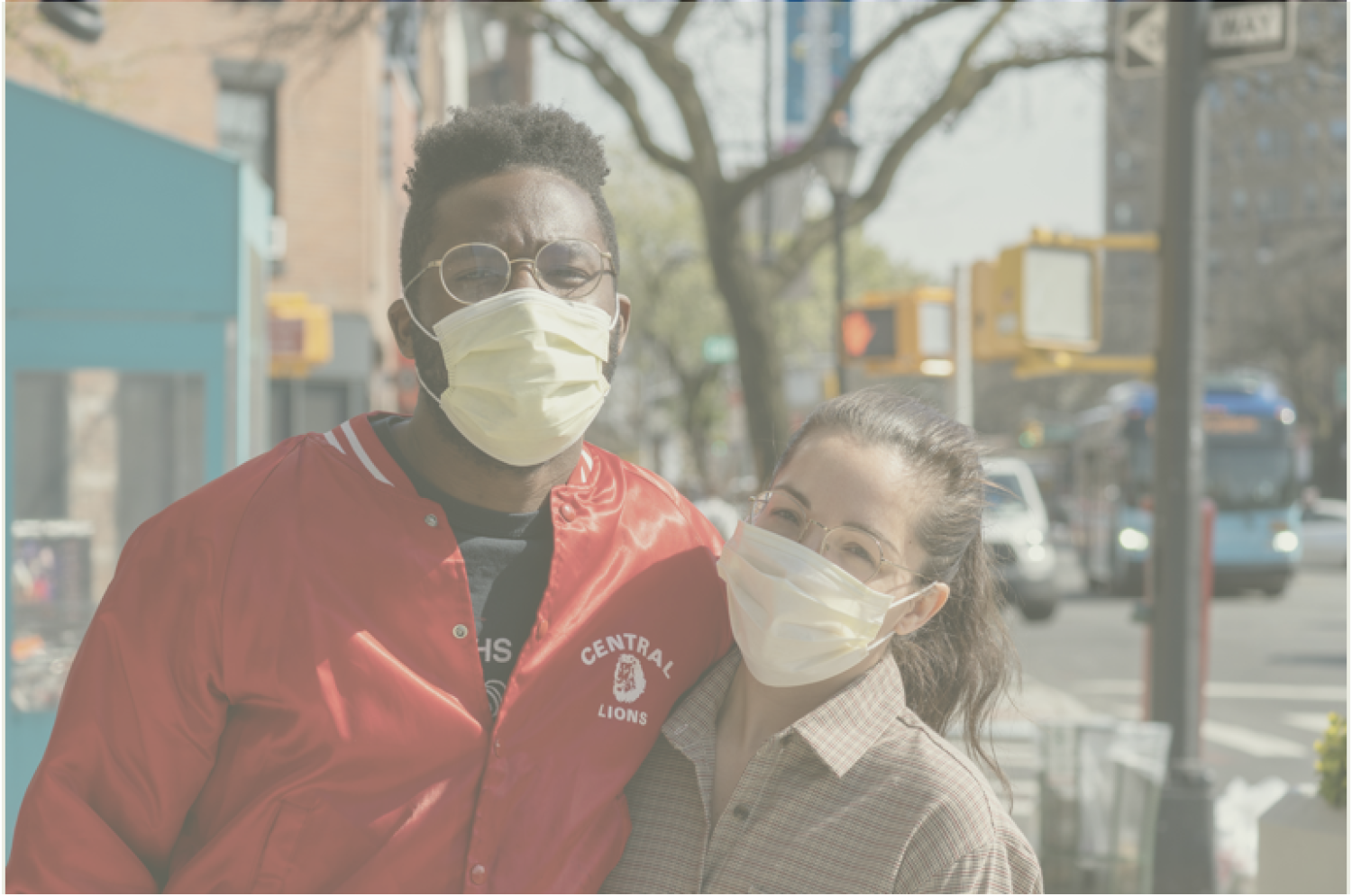 two teens with face masks