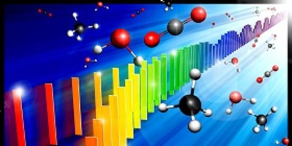 The Cover Image of the paper featuring a rainbow spectrum and molecules