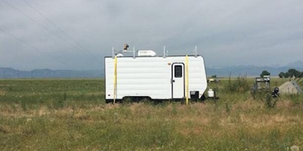 A mobile lab in the field