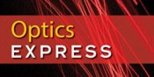 Optics Express cover