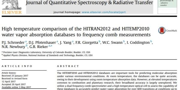 the front page of Paul's paper in the Journal of Quantitative Spectroscopy and Radiative Transfer
