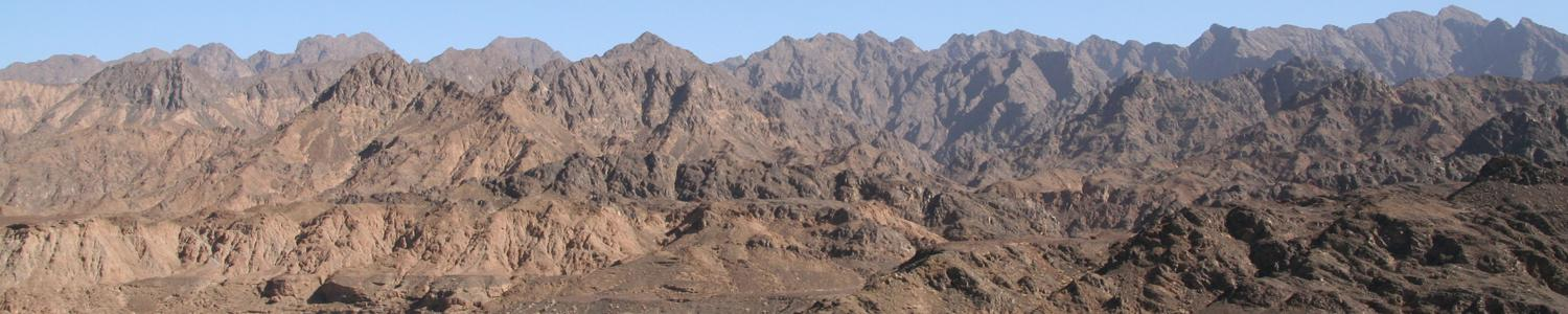 Peridotite mountains in Oman