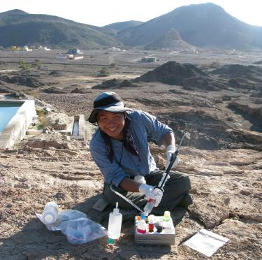RPL Graduate Student James Leong conducting field work in Oman
