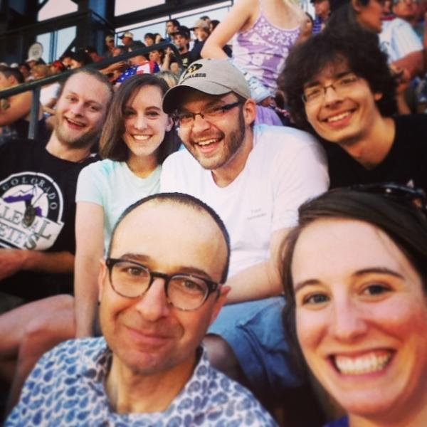 2014: Annual Sammakia group Rockies baseball game outing.