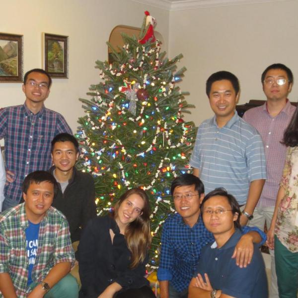 2014.12 Christmas party at Dr. Zuo's house