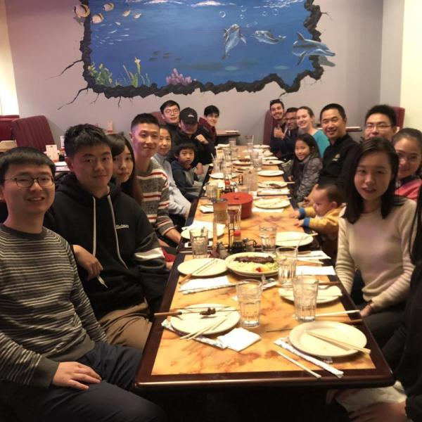 2018.11: Lab dinner to celebrate the Thanksgiving