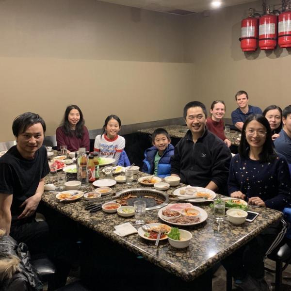 2020.01: Group dinner to celebrate Yangyang passing his Ph.D. defense