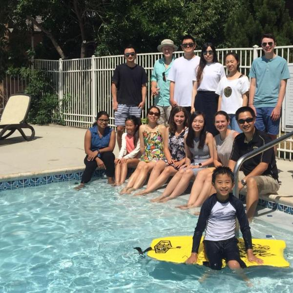 2019.08: Pool party at Dr. Zuo's community pool
