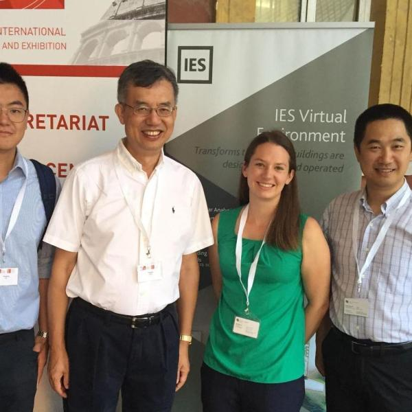 2019.09: Yunyang, Katy and Dr. Zuo present at the 2019 Building Simulation conference in Rome, Italy