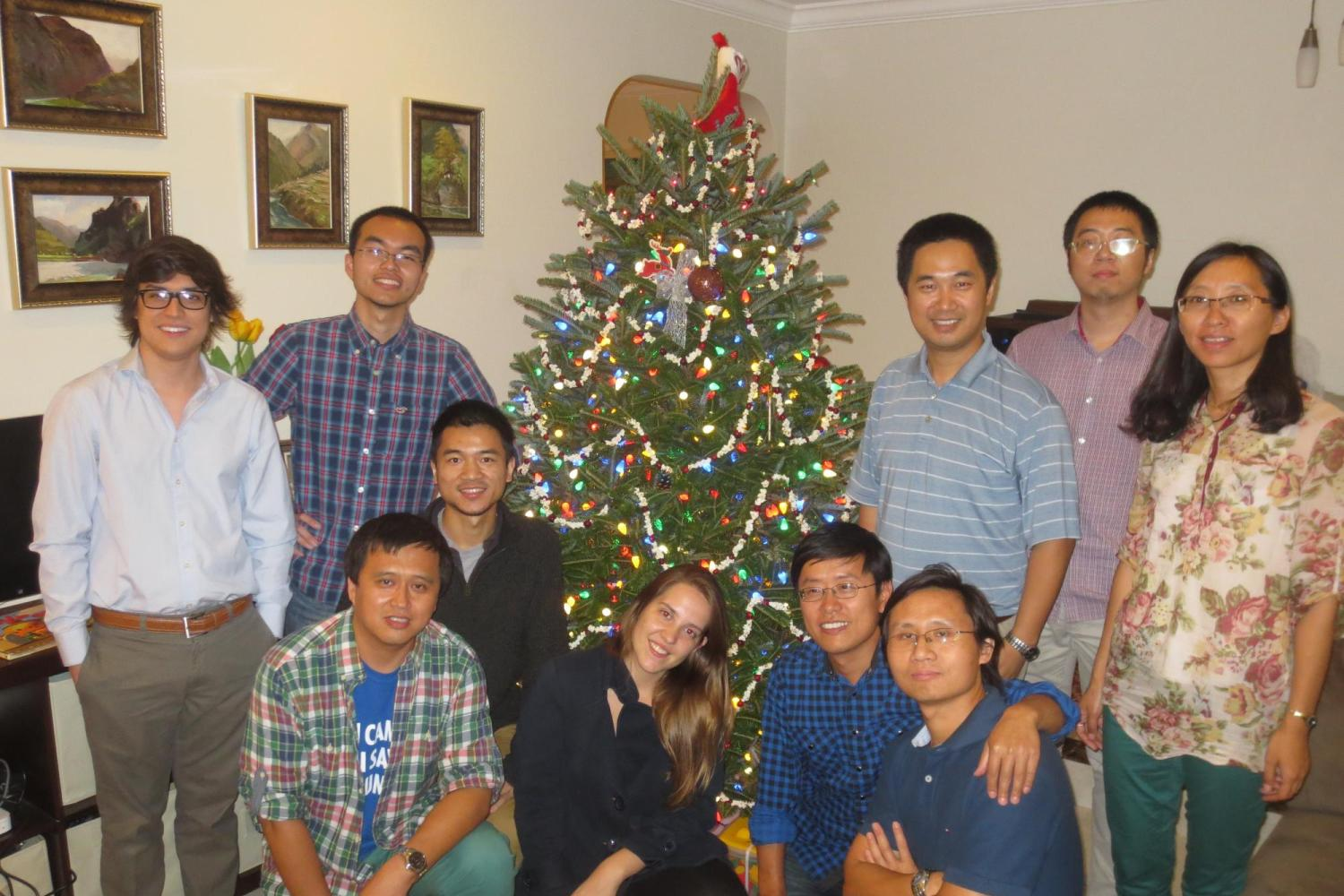 Christmas party at Dr. Zuo's house