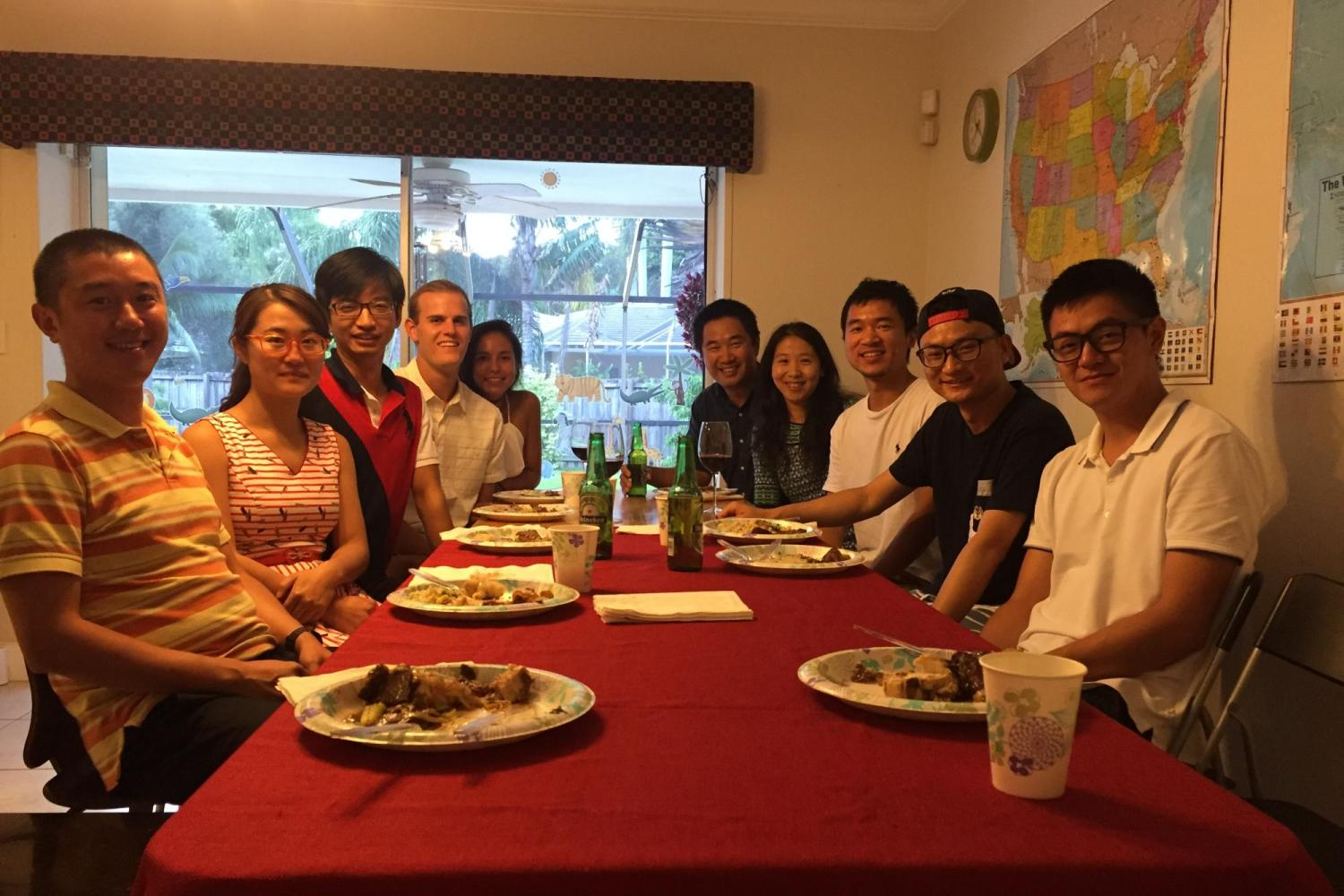 Group dinner at Dr. Zuo's house