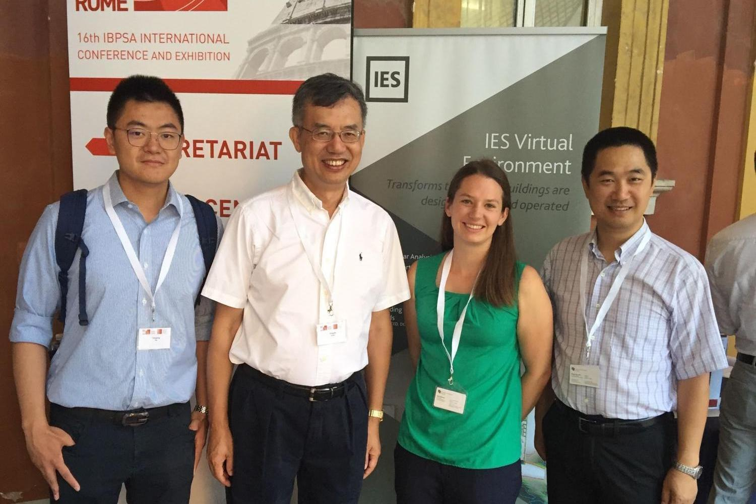 Yunyang, Katy and Dr. Zuo present at the 2019 Building Simulation conference in Rome
