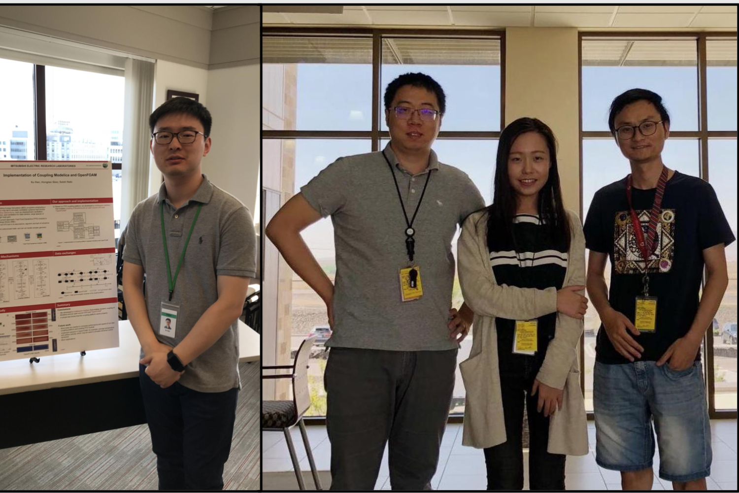 Four Ph.D. students had summer internship at PNNL and Mitsubishi
