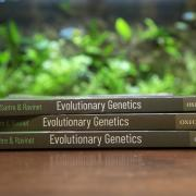 Photo of evolutionary genetics textbook