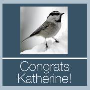 Congratulations Katherine!