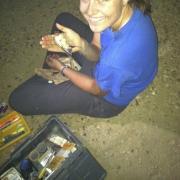 Amanda in the field