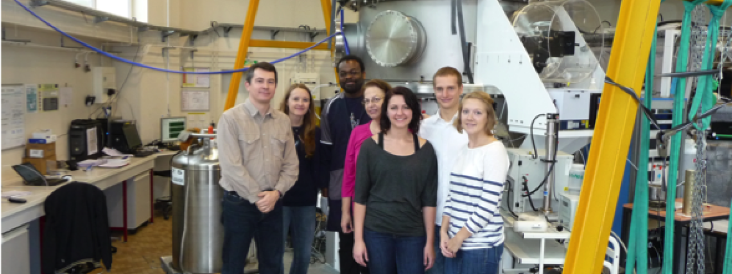 The Vaida Group at the University of Paris-Est with Prof. Jean-François Doussin and his group, standing in front of their atmospheric chamber, October 2011.