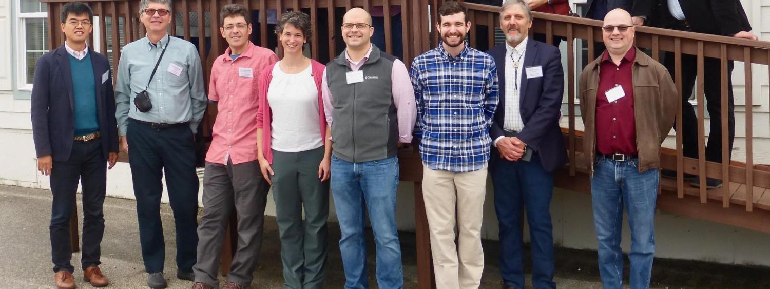The HOMEChem field campaign team in front of the test house