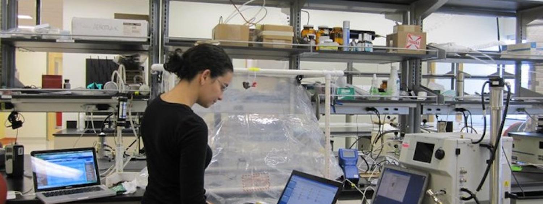 Marina Vance in the laboratory